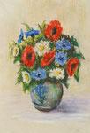 Sommerblumen - Pastellkreide 40x30 cm - 1988 - unverkäuflich