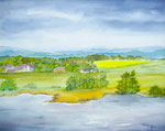 Elbe-Landschaft - Aquarell 30x40 cm