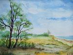 Ostseeküste Österby - Aquarell 30x40 cm