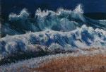 Welle mit Sand - Öl auf Leinwand 40 x 60 cm - verkäuflich