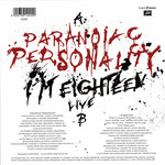 Paranoïac Personality / I'm Eighteen (live) - Germany - Back
