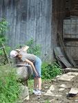 F. hat das Brunnenwasser entdeckt