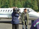 2004? Roger Federer am Flughafen abgeholt (niemand wusste wer er war…!)