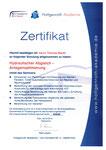 Zertifikat über den Umgang mit entsprechender Software zur Berechnung des hydraulischen Abgleiches von Heizungen.