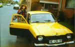 """5. Fahrzeug - Ford Escort """"Hundeknochen"""" - 1263 ccm - 56 PS (Mit meiner damaligen Freundin und jetzigen Frau)"""