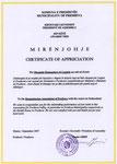 SHHLP KA MARË MIËNJOHJE NGA KUVENDI KOMUNAL I PRESHEVËS.2007