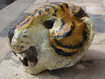 personal: tiger 2, first I mede a model, later put many layers of flower glue and paper, finish with acrilic paint.
