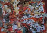 kaos zverin, akril, 71x100,5cm 2011