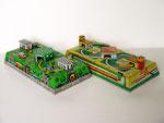 Circuito meccanico in latta Litografata - ABTOTPACCA - U.S.S.R. - 1980