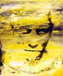 """""""In sich ruhen"""", 2020, Öl auf Leinwand, 30 x 25 cm"""