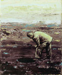 """""""Otwór"""", 2020, Öl auf Leinwand, 30 x 25 cm"""