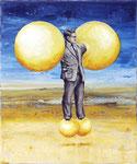 """""""Experiment"""", 2020, Öl auf Leinwand, 30 x 25 cm"""