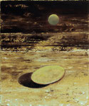 """Deckel"", 2020, Öl auf Leinwand, 30 x 25 cm"