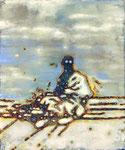 """""""Dedede"""", 2019, Öl auf Leinwand, 30 x 25 cm"""