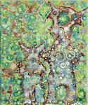 """Oba"", 2019, Acryl auf Leinwand, 30 x 25 cm"