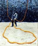"""Abschnitt"", 2020, Öl auf Leinwand, 30 x 25 cm"
