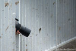 Fotograf am Eidersperrwerk