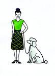 Frau mit Pudel