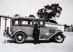Mr Alder and one of his taxis, 1932 (John Alder)