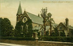 The church around 1912. The original 1863 church can be seen with a cross in the brickwork of the gable end. All that remains of this are the walls to the right and behind the choir stalls (Margaret P. Bryan)