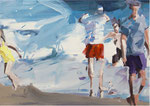Vater und Tochter , Öl/LW, 50x60cm, 2014