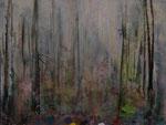 Waldgarten  2010,  Öl auf Leinwand,  40 x 60 cm