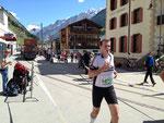 Gerd in Zermatt kurz vor Übergabe des Staffelchips
