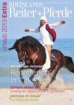 Cover Foto Lassad Ben Yagoub mit Bruce von Reiterferien Haschgalull auf dem neuen Cover von Rheinlands Reiter und Pferde. Gratulation Lassad !