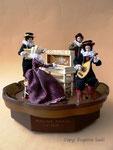 """""""HAUS MUSIK 1610"""", Unikat, mit Musikwerk: Ave Maria, Größe: 32x32 cm, H 24 cm"""