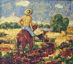 """Mosaik """"Der Reiter"""""""