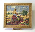 """Mosaik """"Der Reiter"""" mit Rahmen"""