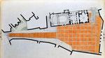 Spoleto, via dell'Arringo e piazza del Duomo: planimetria dello stato di progetto, 1996.