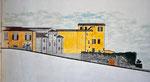 Spoleto, via dell'Arringo: stato di progetto, 1996, sez. longitudinale, dettaglio.