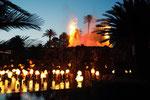 ラスベガスの無料のショー まずはミラージュホテルの噴火ショー