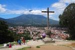 十字架の丘からの眺め 歩いていると広い町のような気がしたけど 上から見るとこじんまりとかわいい町