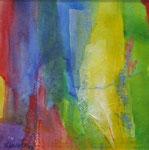 Brigitte Loeper, Mya, 2003, 50 x 50, Collage, Kreide auf handgeschöpftem Papier, 250,- EUR, Nichtmitgl. 380,- EUR