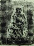 Alfred Heth, Thron, 1995, 50 x 70, Monotypie, 250,- EUR, Nichtmitgl. 400,- EUR