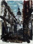Oliver Jordan, Blues für Lippstadt, 1999, 23 x 31, Öl auf Leinwand, Variation Marienkirche