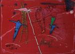 Manfred Feith-Umbehr, Bildnis II, 1994, 80 x 60, Mischtechnik auf Papier und hinter Glas, 250,- EUR, Nichtmitgl. 450,- EUR