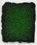 Kuno Gonschior, o. T., 1993, 20 x 27, Acryl auf handgesch. Bütten (chromgrün),