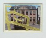 Klaus-Peter Kirchner, Lippstadt, 1993, 10,5 x 7,5, (Edition KV LP) Blattgoldbelegtes Papier auf Ansichtskarte, 150,- EUR, Nichtmitgl. 250,- EUR