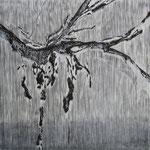 Trace           wood-cut (木版) 915×910mm