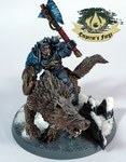Space Wolves  Wolf Lord on Thunderwolf