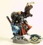 Grey knights Inquisitor Cortez Thunder Hammer glow