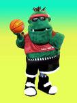 Mascota deportiva equipo baloncesto