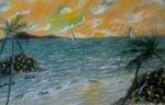 Regata al tramonto 40x60 olio su tela 2013