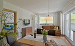 Wohnbereich mit Schlafcouch für 2 Personen - Ferienwohnung Sonnalm