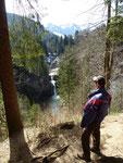 Der Abstieg zu dem Staibis´ser Wasserfall war ja noch OK.
