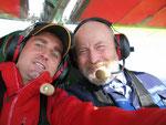 Die zwei Überflieger Eugen und ich