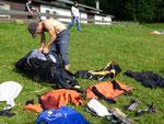 Ulf packt sein Geraffel ein - after Flight